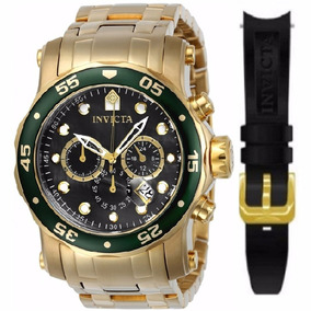 Relógio Invicta Pro Diver 23671 Dourado Troca Pulseira