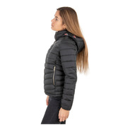 Campera Mujer Inflable Capucha Desmontable Talle Especial