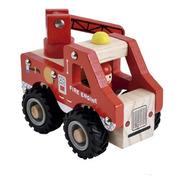 Camión De Bomberos Madera Dactic Niños Pequeños