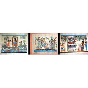 Egito Papiro Egipcio Original Grande 18 Modelos Diferentes