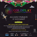 Ingresso Show Coldplay 07/11 Cadeira Superior Allianz - Sp