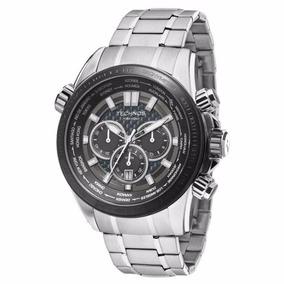 Relógio Technos Aço Os2aak/1k Hora Mundi Cronógrafo Carbono