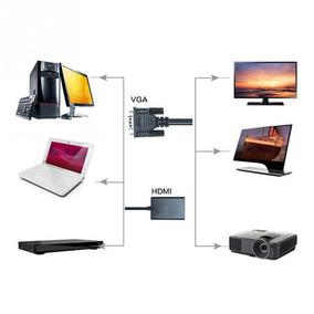 Cable Convertidor Vga A Hdmi Para Proyecto O Laptop Xto
