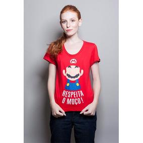 Camiseta Super Mário Bigode Grosso Feminino - Chico Rei