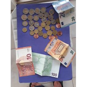 Euros 207 Duzentos E Sete Euros Notas E Moedas