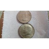 Monedas Un Half Dollar De Kenedy Y Un Dolar De Hong Kong