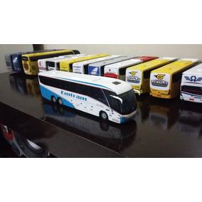 Miniatura De Ônibus Marcopolo G7 Artesanal Da Emtram