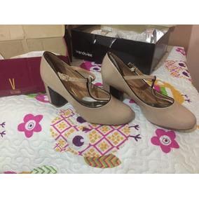 Sapato Boneca Mary Jane Vizzano - Nº35 - Verniz Nude E Preto