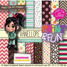 Kit Imprimible Vanellope Ralph El Demoledor Fondos Cliparts