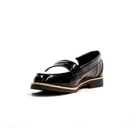 Zapatos Prila Liuba Mocasines Doble Tono - Negro