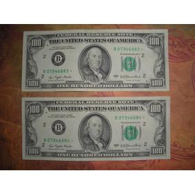 Numk- Eeuu - 100 Dólares Star Note (reposición) 1977 S/ Circ