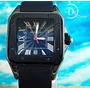 Reloj Cartier Santos 100 Carbone Mediano Para Dama