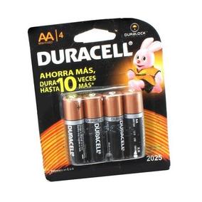 Paquete Cuatro Baterías Duracell Aa 1.5v - Te964