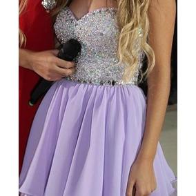 Vestido De Fiesta 15 Años, Corto, Color Lila