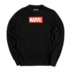 Pullover Sudadera Mascara De Latex Marvel Logo