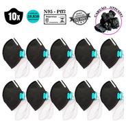 Kit 10 Mascara Carvão Ativado N95 Proteção Respiratória Pff2