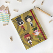 Cuaderno Tapa Dura A5 Anillado 80 Hojas Rayadas - Johnny Dep