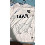 Camiseta Entrenamiento Boca Juniors Firmada