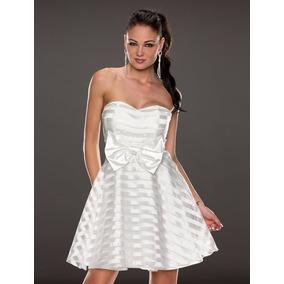 Hermosos Vestidos Strapless Blanco