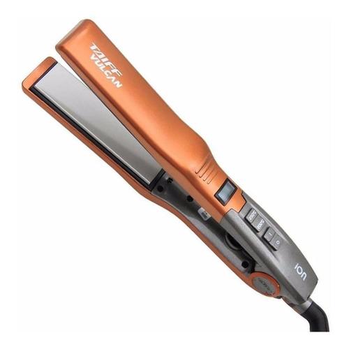 Prancha de cabelo Taiff Vulcan cobre e cinza com placas de cerâmica 110V/220V