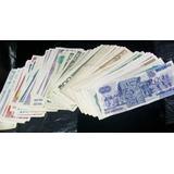 Billetes Antiguos Circulados En Lote