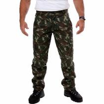 Calça Tática Rip Stop Militar Eb Paintball Camuflada