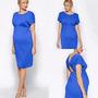 Vestido Formal Embarazada Maternal Azul
