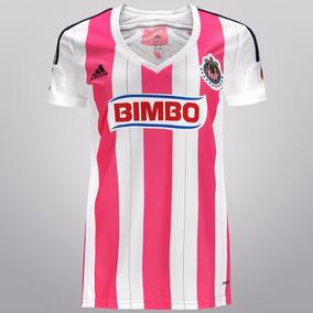 Jersey Chivas Guadalajara Color Rosa Dama 2014-2015 adidas