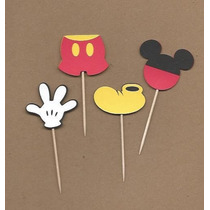 Toppers Fiestas Infantiles Mickey Minie Ponquesitos Cupcakes