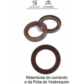 Retentor Comando + Polia Peugeot 207 307 Xsara C3 1.6 16v