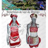 Delantal Con Quilla O Pañoleta Santeria Santo Factorycole