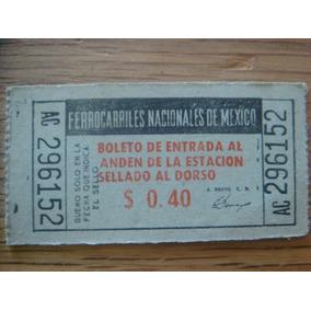 Antiguo Boleto De Ferrocarriles Nacionales De Mexico