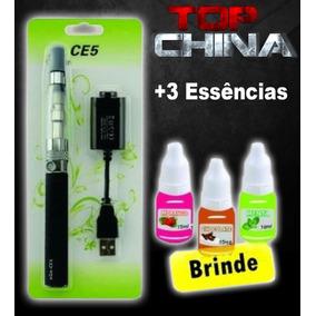 ***01 Cigrro Caneta Eletrôn Usb Recarregável + 03 E-liquid**