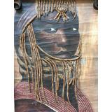 Pintura A Óleo Sobre Tela Africana - Decoração De Sala Arte