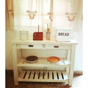 Mesa Quesera/ Arrime/ Desayunador/ Vintage Con Herrajes