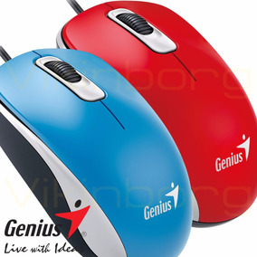 Mouse Genius Dx-110 Usb Rojo Red Azul Blue