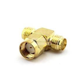 Conector Sma T Antena Adaptador Sma Macho A 2 X Sma Hembra