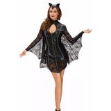 Fantasia Vampira Completa Luxo Carnaval Festa Baile