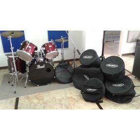 Batería Acústica Pearl Fórum 5 Pzas + Platillos + Forros