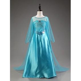 Vestido Fantasia Frozen Princesa Elsa Disney