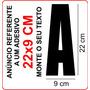 Adesivo Números Letras (1) 22x9 Cm Letreiro Frete Fixo