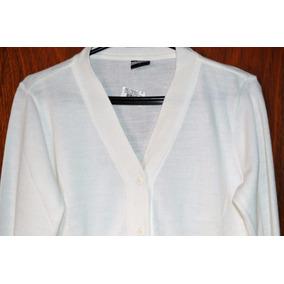 Blusa Cardigan Feminino Branco Fechamento Botões Tamanho P