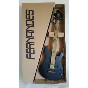 Guitarra Fernandes Preto Fosco Dragonfly Dfx 08 Blks Nova Cx