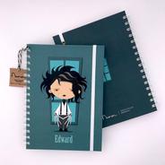 Cuaderno Tapa Dura A5 Anillado 80 Hojas Rayadas - Edward