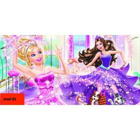 Painel Barbie Painel De Festa Infantil 2x1