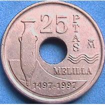 Spg España 25 Pesetas 1997 Melilla.