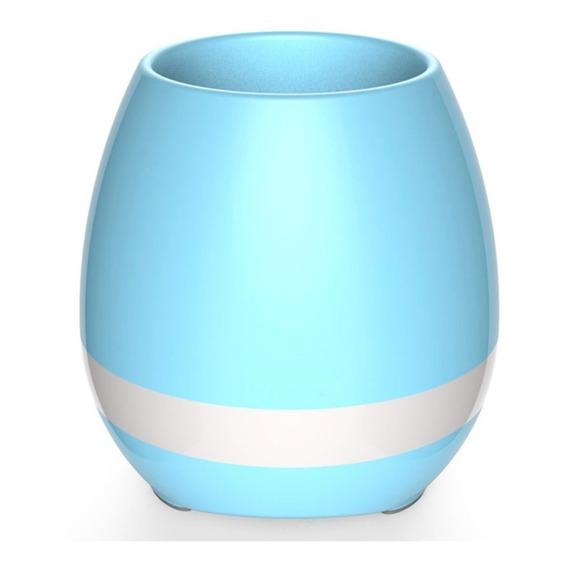 Parlante Maceta Bluetooth Con Luz Led Musica Bateria Interna Portatil * Planta Real * Garantia