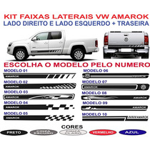 Acessorios Kit Adesivo Lateral E Traseira Vw Amarok Sport