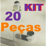 Kit Com 20 Peças Frasco Labial Vidro Roll On 10ml