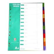 Separador The Pel Indice Plastico 12 Div. Lengüeta Color A4